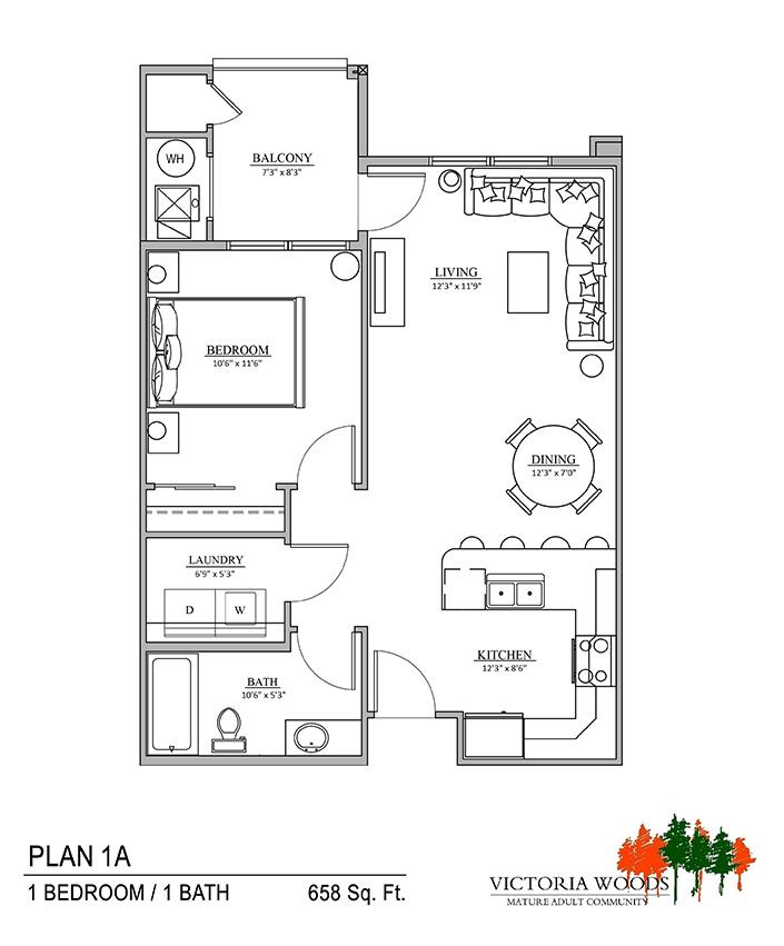 Victoria Woods Sandy Floor Plan 1A