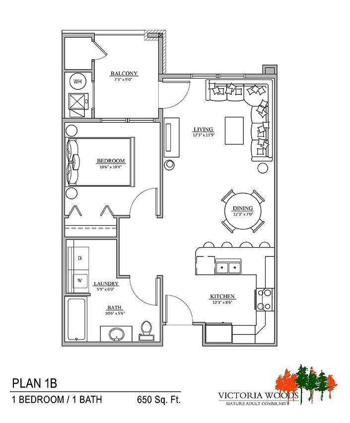 Victoria Woods Sandy Floor Plan 1B
